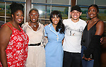 NaTasha Yvette Williams, Cynthia Erivo, Nicolette Robinson, Anthony Ramos and Patina Miller backstage after Nicolette Robinson makes her Broadway debut in 'Waitress' on September 4, 2081 at the Brooks Atkinson Theatre in New York City.