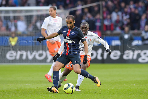 05.03.2016. Paris, France. French League 1 football. Paris St Germain versus Montpellier.  Lucas Moura (PSG)