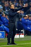 Gelsenkirchen, Germany, 1. Football- BL,  match day 19,<br />FC Schalke 04 - Hannover 96 1-1am <br />21. 01. 2018  in Veltins -Arena auf Schalke  in Gelsenkirchen<br />Trainer Andre BREITENREITER (H96)