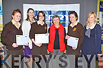 SCIENCE: Students from the Presentation, Listowel who came 3rd in the KSTA secondary school science quiz at the IT Tralee south campus on Thursday l-r:Aishling Grimes, Stephanie Leonard (KSTA), Abgail Walsh, Kathleen Hayes (teacher), Louise Dineen and Marie Rohan (Kerry Group).