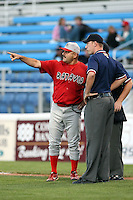 Sept. 1st, 2007:  Mark DeJohn of the Batavia Muckdogs, Short-Season Class-A affiliate of the St. Louis Cardinals at Dwyer Stadium in Batavia, NY.  Photo by:  Mike Janes/Four Seam Images