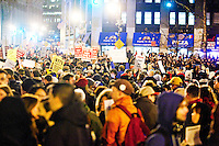 Thousands of protesters gather in Foley Square as part of a day of protests celebrating the two month anniversary of the Occupy Wall Street movement, on November 17, 2011 in New York City.