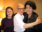 *** EXCLUSIVE Coverage ***.Woody Allen performing with his Band The New York Jazz Ensemble at the TEATRO SISTINA in  Rome, Italy..The Concert was an AIDS Benefit which raised over .50,000 euros..Seen here backstage with wife Soon-Yi Previn and Carla Fendi..December 12, 2004.© Walter McBride /