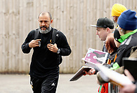 Wolverhampton Wanderers manager Nuno Espirito Santo arrives at Turf Moor ahead of kick-off<br /> <br /> Photographer Rich Linley/CameraSport<br /> <br /> The Premier League - Burnley v Wolverhampton Wanderers - Saturday 30th March 2019 - Turf Moor - Burnley<br /> <br /> World Copyright © 2019 CameraSport. All rights reserved. 43 Linden Ave. Countesthorpe. Leicester. England. LE8 5PG - Tel: +44 (0) 116 277 4147 - admin@camerasport.com - www.camerasport.com