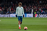 Atletico de Madrid's Antoine Griezmann warms during UEFA Champions League match, Round of 16, 1st leg between Atletico de Madrid and Juventus at Wanda Metropolitano Stadium in Madrid, Spain. February 20, 2019. (ALTERPHOTOS/A. Perez Meca)