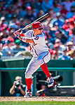 30 July 2017: Washington Nationals catcher Jose Lobaton in action against the Colorado Rockies at Nationals Park in Washington, DC. The Rockies defeated the Nationals 10-6 in the second game of their 3-game weekend series. Mandatory Credit: Ed Wolfstein Photo *** RAW (NEF) Image File Available ***