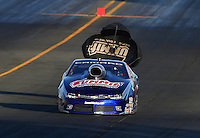 Jul. 25, 2014; Sonoma, CA, USA; NHRA pro stock driver Jason Line during qualifying for the Sonoma Nationals at Sonoma Raceway. Mandatory Credit: Mark J. Rebilas-