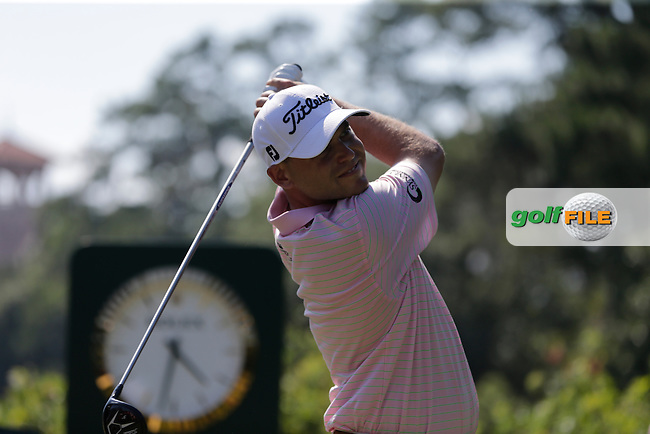 Bill HAAS (USA) on the 10th tee during the final round of The Players, TPC Sawgrass, Ponte Vedra Beach, Florida, United States. 10/05/2015<br /> Picture Fran Caffrey, www.golffile.ie