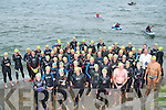 A large turn out for the Donald Walsh Memorial swim on Tuesday evening at Fenit Slip.