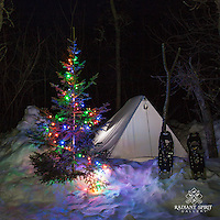 Holiday Lights in the Wilderness, Day 9 of Inspired by Wilderness: A Four Season Solo Canoe Journey