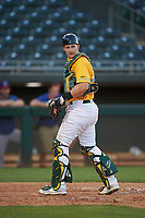 AZL Athletics Gold catcher Sean Murphy (52) during a rehab assignment in an Arizona League game against the AZL Rangers on July 15, 2019 at Hohokam Stadium in Mesa, Arizona. The AZL Athletics Gold defeated the AZL Athletics Gold 9-8 in 11 innings. (Zachary Lucy/Four Seam Images)