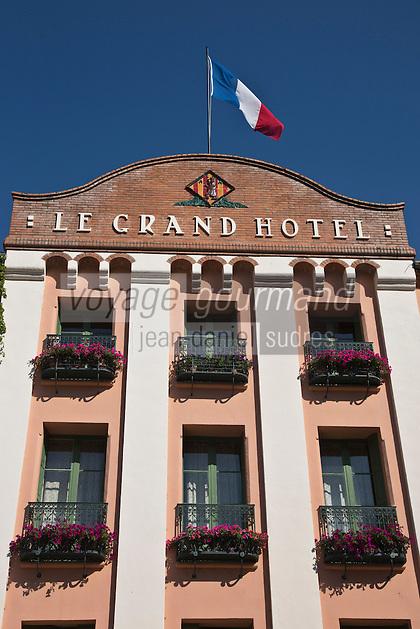 Europe/France/Languedoc-Roussillon/66/Pyrénées-Orientales/Molitg-les-Bains: Grand Hôtel, Thermes de Molitg les Bains