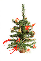 Little artificial Christmas tree