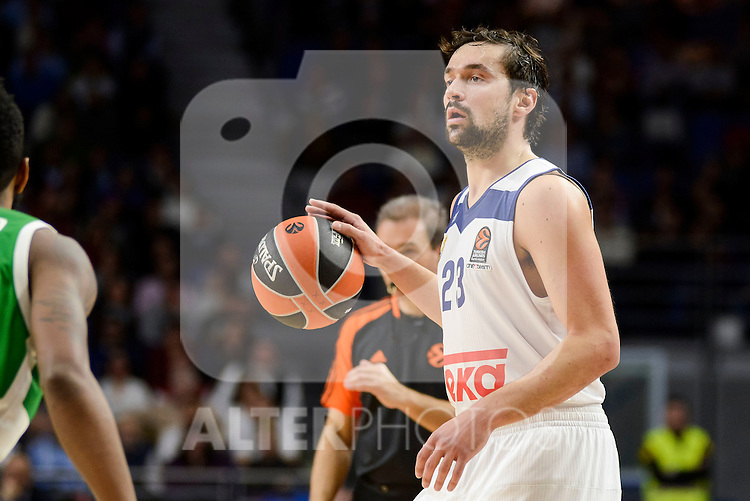 Real Madrid's player Sergio Llull during match of Turkish Airlines Euroleague at Barclaycard Center in Madrid. November 24, Spain. 2016. (ALTERPHOTOS/BorjaB.Hojas)