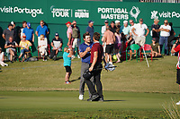 Haydn Porteous (RSA) and Eddie Pepperell (ENG) during Round 3 of the Portugal Masters, Dom Pedro Victoria Golf Course, Vilamoura, Vilamoura, Portugal. 26/10/2019<br /> Picture Andy Crook / Golffile.ie<br /> <br /> All photo usage must carry mandatory copyright credit (© Golffile   Andy Crook)