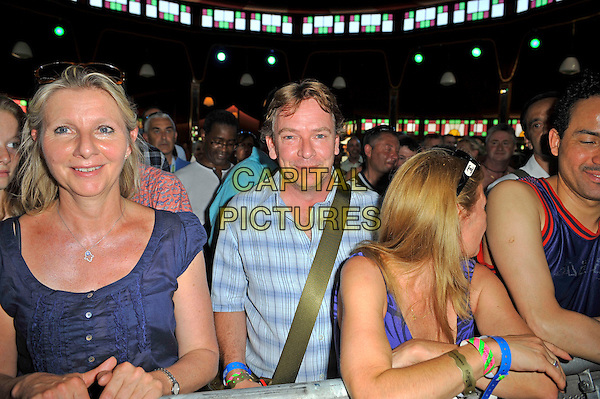 Adam Woodyatt attending Al Jarreau at  Barclaycard British Summertime, Hyde Park, London, England. <br /> 14th July 2013<br />  half length  blue check shirt audience crowd fans<br /> CAP/MAR<br /> &copy; Martin Harris/Capital Pictures