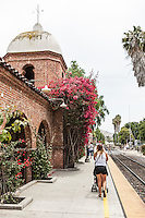 Amtrak's Surfliner runs through San Juan Capistrano, CA. Images are available for editorial licensing, either directly or through Gallery Stock. Some images are available for commercial licensing. Please contact lisa@lisacorsonphotography.com for more information.