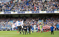 The officials and teams walk out during Ipswich Town vs Sunderland AFC, Sky Bet EFL League 1 Football at Portman Road on 10th August 2019