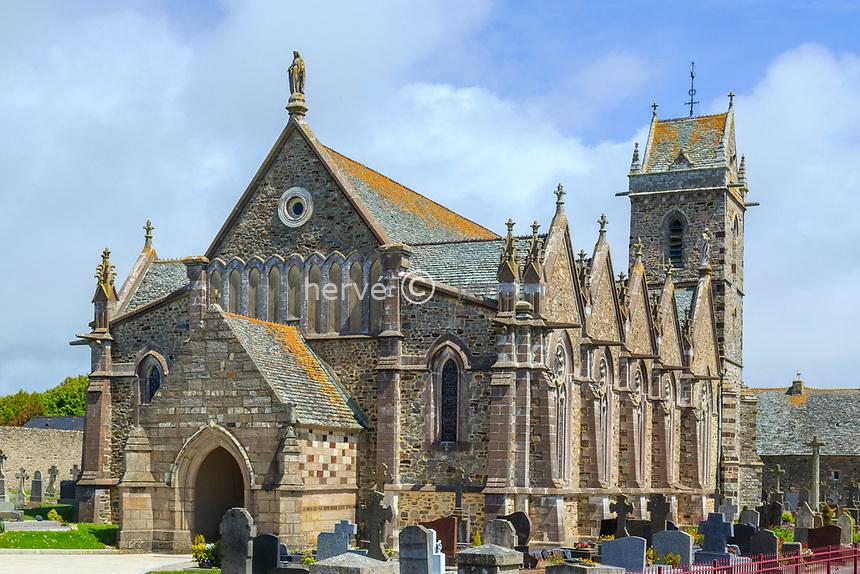 France, Manche (50), Cotentin, Cap de la Hague, Biville, église Saint-Pierre // France, Manche, Cotentin Peninsula, Cap de la Hague, Biville, Saint Pierre church