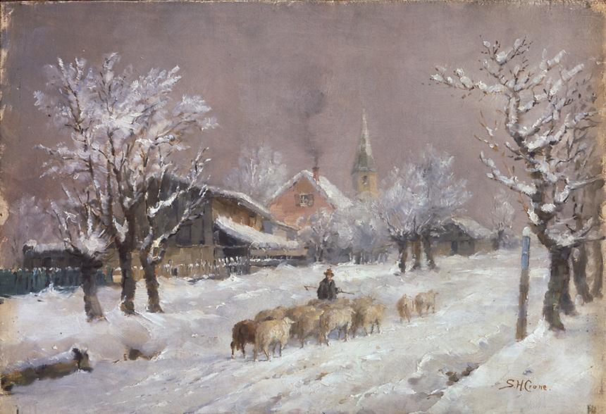 Title: Bavarian Village/ No.4<br /> Type: Oil Painting<br /> Cat #: er5<br /> File Name: er5<br /> Image Checked: yes<br /> Formats: slide, c 4x5, b/w neg., c .tif
