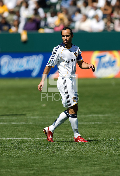 LA Galaxy's Landon Donovan. The LA Galaxy and DC United play to 2-2 draw at Home Depot Center stadium in Carson, California on Sunday March 22, 2009.