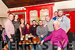 Emigrating: Keith Hannon, Ballydonoghue, centre having farewell drinks with family and friends at the Thatch Bar, Liselton on Saturday night last prior to departure for Australia in the coming days.