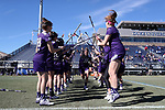 DURHAM, NC - FEBRUARY 18: Northwestern's Nell Copeland (38). The Duke University Blue Devils hosted the Northwestern University Wildcats on February 18, 2018, at Koskinen Stadium in Durham, NC in women's college lacrosse match. Duke won the game 9-8.