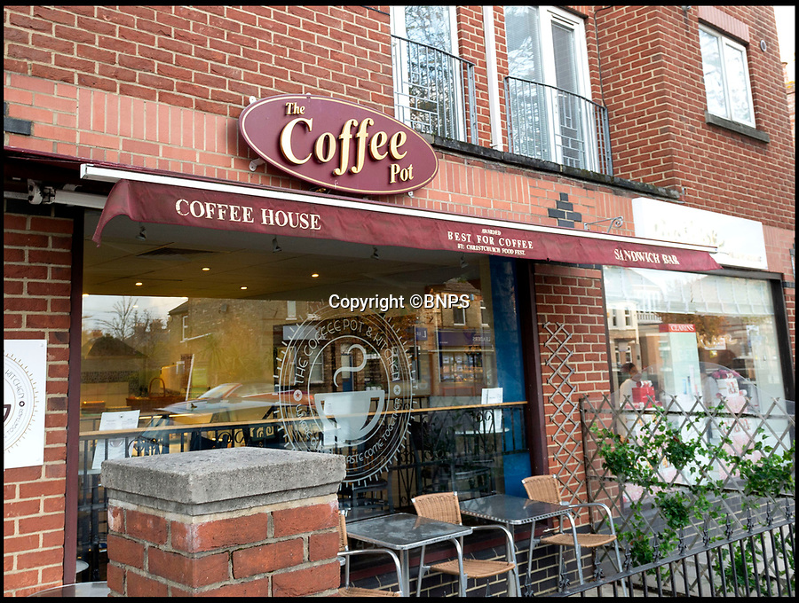 BNPS.co.uk (01202 558833)<br /> Pic:  RogerArbon/BNPS<br /> <br /> The Coffee Pot.<br /> <br /> A retirement town that is overspilling with coffee shops is to get its 15th after officials lost their bid to put a lid on them.<br /> <br /> Councillors in Christchurch, Dorset, refused a Coffee#1 permission to take over an empty shop because the town had too many cafes.<br /> <br /> But the national chain appealed the decision and have won their case.<br /> <br /> It means there will now be 15 coffee shops in a 500 metre stretch of the High Street - or one every 33 metres.