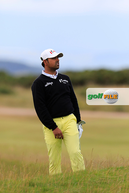 Anirban Lahiri (IND) on the 14th hole during Sunday's Round  of the 144th Open Championship, St Andrews Old Course, St Andrews, Fife, Scotland. 19/07/2015.<br /> Picture Eoin Clarke, www.golffile.ie