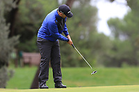 Oliver Farr (WAL) on the 5th green during Round 4 of the Challenge Tour Grand Final 2019 at Club de Golf Alcanada, Port d'Alcúdia, Mallorca, Spain on Sunday 10th November 2019.<br /> Picture:  Thos Caffrey / Golffile<br /> <br /> All photo usage must carry mandatory copyright credit (© Golffile | Thos Caffrey)