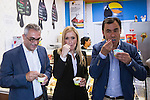 Cristina Cifuentes, president of the community of Madrid, and Fernando Martinez - Maillo, deputy secretary of the PP electoral organization, through the streets of the district of Tetuan in Madrid , visiting various businesses run by the south american community and meeting with them. Jun 15,2016. (ALTERPHOTOS/Rodrigo Jimenez)