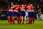 31st October 2017, Wanda Metropolitano, Madrid, Spain; UEFA Champions League, Atletico Madrid versus Qarabag FK; Team Group Liune-up of Atletico before the game