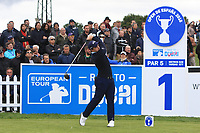 Paul Dunne (IRL) on the 1st tee during Round 1 of the Open de Espana 2018 at Centro Nacional de Golf on Thursday 12th April 2018.<br /> Picture:  Thos Caffrey / www.golffile.ie<br /> <br /> All photo usage must carry mandatory copyright credit (&copy; Golffile | Thos Caffrey)
