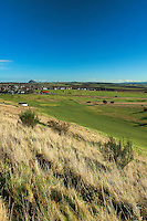 The East Lothian Coastline and North Berwick Law from Gullane No 1 Golf Course, Gullane, East Lothian