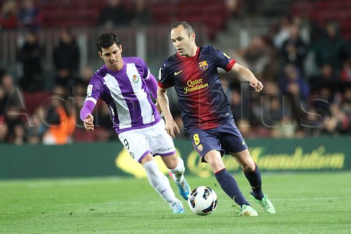 19.05.2013 Barcelona, Spain. Andres Iniesta during the Spanish La Liga game between Barcelona and Real Valladolid from the Nou Camp.