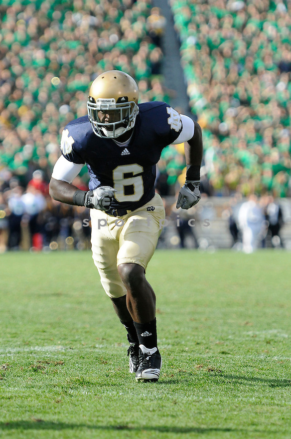 THEO RIDDICK, of  Notre Dame, in action during the Irish's game against the  Purdue Boilermakers at Notre Dame Stadium in South Bend, Indiana September 4, 2010.   Notre Dame won the game 23-12.....