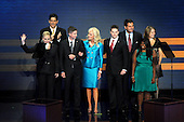 St. Paul, MN - September 4, 2008 -- Cindy McCain introduces her family as she begins to speak about her husband, United States Senator John McCain (Republican of Arizona) on day 4 of the 2008 Republican National Convention at the Xcel Energy Center in St. Paul, Minnesota on Thursday, September 4, 2008..Credit: Ron Sachs / CNP.(RESTRICTION: NO New York or New Jersey Newspapers or newspapers within a 75 mile radius of New York City)