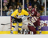 Fraser Allan (Merrimack - 2), Matt Lombardi (BC - 24), Barry Almeida (BC - 9) - The Merrimack College Warriors defeated the Boston College Eagles 5-3 on Sunday, November 1, 2009, at Lawler Arena in North Andover, Massachusetts splitting the weekend series.