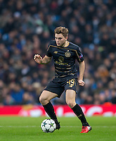 James Forrest of Celtic during the UEFA Champions League GROUP match between Manchester City and Celtic at the Etihad Stadium, Manchester, England on 6 December 2016. Photo by Andy Rowland.