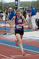 Eureka High School's (MO) Hannah Long takes second in the 1600-meters running the third fastest time in the country and a personal best of 4:43.67 at the 2015 Kansas Relays on Friday, April 17, in Lawrence, Ks.