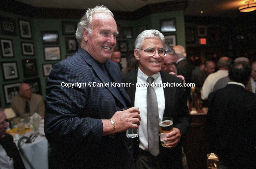 Former Green Bay Packer running back Paul Hornung and Vince Lombardi Jr. at the Lombardi Legends Reunion mixer at Lombardi's Steakhouse in Appleton, Wisconsin in September of 2001.