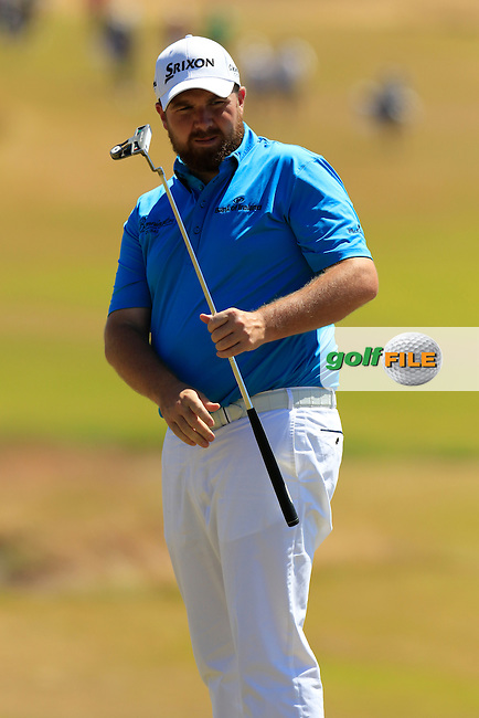 Shane LOWRY (IRL) putts on the 11th green during Wednesday's Practice Day of the 2015 U.S. Open 115th National Championship held at Chambers Bay, Seattle, Washington, USA. 6/17/2015.<br /> Picture: Golffile | Eoin Clarke<br /> <br /> <br /> <br /> <br /> All photo usage must carry mandatory copyright credit (&copy; Golffile | Eoin Clarke)