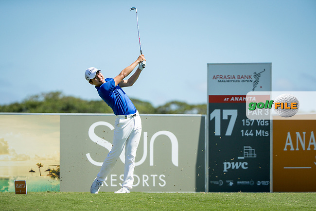 Jeunghun  Wang (KOR) during the 1st round of the AfrAsia Bank Mauritius Open, Four Seasons Golf Club Mauritius at Anahita, Beau Champ, Mauritius. 29/11/2018<br /> Picture: Golffile | Mark Sampson<br /> <br /> <br /> All photo usage must carry mandatory copyright credit (© Golffile | Mark Sampson)