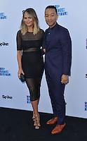 Chrissy Teigen + John Legend @ the 'Lip Sync Battle' event held @ the TV Academy Wolf theatre. June 14, 2016