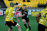 Damien McKenzie in action during the Super Rugby quarterfinal match between the Hurricanes and Chiefs at Westpac Stadium in Wellington, New Zealand on Friday, 20 July 2018. Photo: Dave Lintott / lintottphoto.co.nz