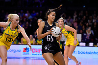Silver Ferns&rsquo; Aliyan Dunn in action during the International Netball Constellation Cup - NZ Silver Fans v Australia Diamonds at TSB Bank Arena, Wellington, New Zealand on Thursday 18 October  2018. <br /> Photo by Masanori Udagawa. <br /> www.photowellington.photoshelter.com