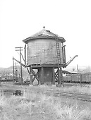 Durango water tank in its double-spouted configuration as rigged for movie usage.<br /> D&amp;RGW  Durango, CO