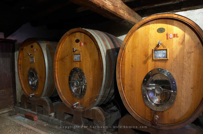 wooden vats domaine g bonnefond ampuis rhone france