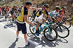 The feed zone during Stage 13 of the 2017 La Vuelta, running 198.4km from Coin to Tomares, Seville, Spain. 1st September 2017.<br />