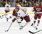 Paul Carey (BC - 22), Conor Morrison (Harvard - 38) - The Boston College Eagles defeated the Harvard University Crimson 6-0 on Monday, February 1, 2010, in the first round of the 2010 Beanpot at the TD Garden in Boston, Massachusetts.